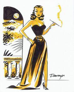Dragonlady by Darwyn Cooke Comic Art Comic Book Artists, Comic Artist, Comic Books Art, Comic Book Characters, Female Cartoon, Girl Cartoon, Hollywood Glamour, Female Dragon, Dragon Lady
