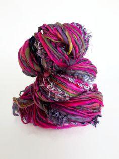 gypsy in chili char : handspun handpainted art yarn merino wool / hand painted hand dyed hand spun