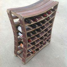 42 Bottle Wine Stave Rack. http://www.katybarrelcompany.com/product/42-bottle-wine-rack/