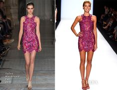 Heidi Klum In Julien Macdonald - Project Runway 2014 Final - Red Carpet Fashion Awards