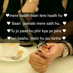 Ž QûeêŃ♥ Love Song Quotes, Song Lyric Quotes, Romantic Love Quotes, Love Songs, Bollywood Movie Songs, Like This Song, Romantic Song Lyrics, Heart Touching Shayari, Snapchat Stories
