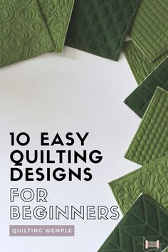 Ready to quilt your quilt and don't know what design to choose? If you're new to machine quilting and are looking for a great easy quilting design for beginners, continue reading for 10 great ideas! #quiltingprojects #machinequiltingtips #quiltingwemple #quilting #quilttutorials Quilting For Beginners, Sewing Projects For Beginners, Quilting Tips, Quilting Tutorials, Quilting Projects, Straight Line Quilting, Machine Quilting Designs, Easy Quilts, Free Motion Quilting