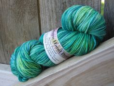 """Knitting up Warmth by saoirsephoto on Etsy features """"Undine"""" sock yarn."""