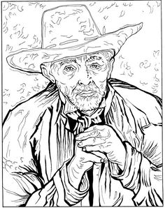 Van Gogh Coloring Pages | coloring page Vincent van Gogh Kids-n-Fun