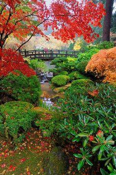 North Moon Bridge, Portland Japanese Garden, Portland, OR