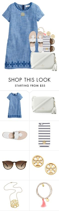 """lol."" by preppy-southern-gals ❤ liked on Polyvore featuring Kate Spade, Jack Rogers, Tory Burch, Ray-Ban, Jennifer Zeuner and Jigsaw"