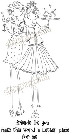 Stamping Bella Unmounted Rubber Stamp-Uptown Girl Felicity and Blair