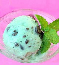 Mint Chocolate Chip Ice Cream- just 100 calories per GIANT serving.