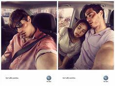 """""""Don't selfie and drive"""" (""""Pas de selfie en conduisant"""")  Voici une belle campagne de sensibilisation à l'initiative de Volkswagen !  Les selfies c'est bien, c'est beau, c'est à la mode... Mais Volkswagen nous rappelle que le selfie ça peut aussi être dangereux ! #Unselfieoulavie  #Volkswagen #selfie #dontselfieanddrive #campagne #de #sensibilisation #leselfiesauvolantcestpassimarrant"""