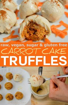 raw vegan carrot cake truffles recipe