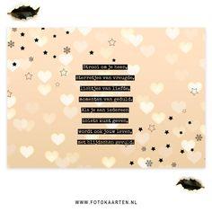 Lief gedichtje voor op je kerstkaarten. Zoek je meer ideetjes? Kijk dan op www.Fotokaarten.nl.