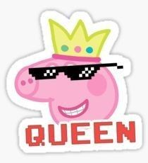 Peppa Pig Queen Sticker Peppa stickers featuring millions of original designs created by independent artists. Decorate your. Peppa Pig Stickers, Bubble Stickers, Meme Stickers, Snapchat Stickers, Phone Stickers, Cool Stickers, Printable Stickers, Peppa Pig Wallpaper, Funny Phone Wallpaper