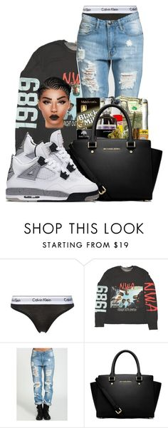 """""""whitecement4s"""" by ballislife ❤ liked on Polyvore featuring Calvin Klein Underwear, MICHAEL Michael Kors and NIKE"""