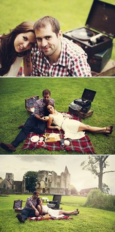 vintage picnic engagement, image by Jen Marino