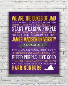 University of Virginia Cavaliers Typography by GildMyWorldDesigns Graduation Year, Graduation Presents, Louisiana State University, University Of Virginia, James Madison University, Honor Society, Class Of 2016, Typography Prints, Study Abroad