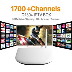Q1304 Android Tv Box IPTV Set Top Box With Iptv Channels Subscription 1 Year Apk IUDTV Arabic Full Europe Indian 1700+ Channels