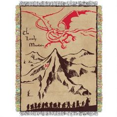 The Lonely Mountain Throw Blanket from How to Decorate a Lord of the Rings Themed Kids Room