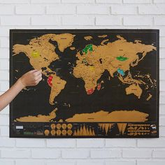 Scratch off and marvel at the many places you've been and discover colorful factoids about world geography.