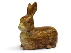 Ceramic Rabbit Terrine. French Rustic Kitchen by LeBonheurDuJour