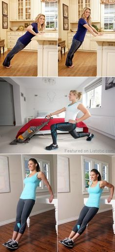 #1. Turn your chores and waiting time into a workout! -- 11 Sneaky Ways To Burn More Calories Every Day