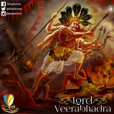 Lord Veerbhadra was an #avatar of Lord Shiva who was a #fearsome warrior. #ePuja