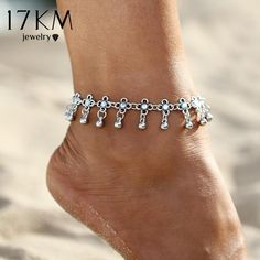 LOHOME Fashion Anklets Rose Gold Tone Diamond and Smiling faces Tassel Charm Foot Chain for Women L7.4+2.3