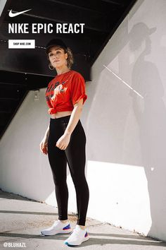 Experience the soft and springy, light and long-lasting Nike Epic React. Outfits For Teens, Casual Outfits, Cute Outfits, Nike Thea, Under Armour Sweatshirts, Daily Look, Dance Outfits, Fitness Fashion, What To Wear