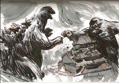Godzilla vs King Kong by Tommy Lee Edwards