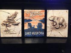 Muskoka lake, sculpted, drawing, cottage, bear, Fern