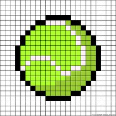 Tennis ball perler bead pattern - these would be great coasters! Or ornaments, or...(so many options!) #perlerbeads #tennis #coasters