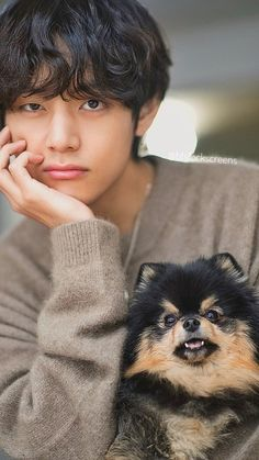 bts wallpaper Dispatch BTS V/ Kim Taehyung/ Tae birthday boyfriend material lockscreen/ wallpaper with Yeontan/ TANNIE. Taehyung Selca, Bts Jungkook, Bts Selca, Namjoon, Jimin Cute Selca, Foto Bts, Daegu, Wallpaper Winter, V Bts Wallpaper
