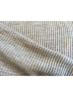 Uld jersey - gråbeige, meleret 100% uld