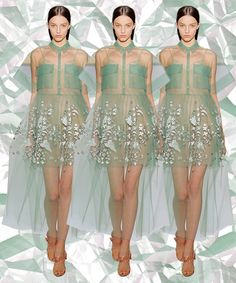 The Prettiest Dresses From Fashion Week #refinery29  http://www.refinery29.com/2014/10/75461/best-dresses-fashion-week-2014