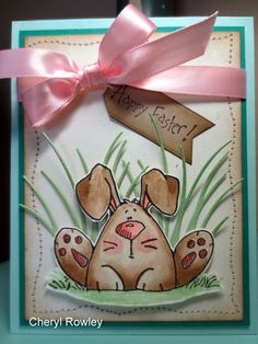 Cheryl Rowley: Cottage Creations: Curious Easter Bunny! - 2/23/14 (Whipper Snapper stam,ps: Curious Bunny)