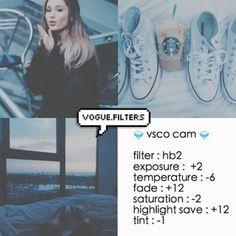 HB2 Exposure +2 Temperature -6 Fade +12 Saturation -2 Highlights Save +12 Tint -1