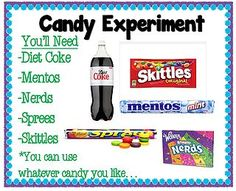 Am I the last person on the face of the earth to drop mentos in a bottle of Diet Coke!?!?! Hello…so fun! So put this in your back pocket for when school starts. This would be a fun experiment to do ar