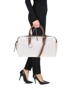 Béžovo-biela kabelka Clarks Milang Chic