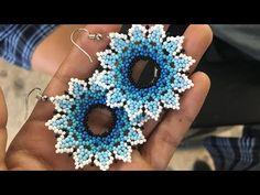 Beaded Earrings Patterns, Seed Bead Earrings, Diy Earrings, Beading Patterns, Bead Jewellery, Beaded Jewelry, Handmade Jewelry, Beaded Bracelets, Earring Tutorial