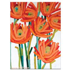 A colorful centerpiece for your gallery wall or office, this bold canvas print features an abstract floral design.  Product: Can...