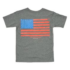 Southern Marsh Youth Vintage Flag Tee in Midnight Grey