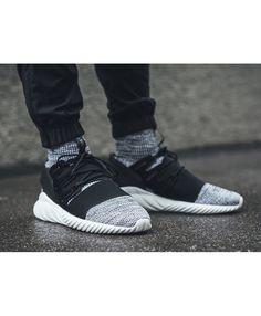 cb5f7cd8acd9 Adidas Tubular Doom Primeknit Core Black White Shoes Adidas Tubular Mens