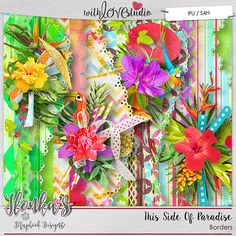 This Side Of Paradise digital scrapbooking Border from Ilonka's Scrapbook Designs. This gorgeous Hawaii inspired kit will be a great addition to your scrapbooking stash. Your layouts will pop with all the gorgeous paradise photos.