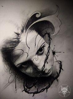 face by AndreySkull on @DeviantArt
