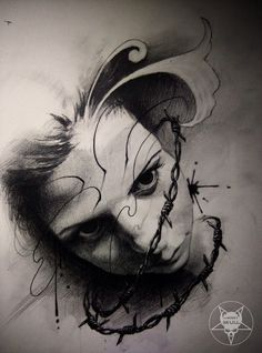 face by AndreySkull on @DeviantArt