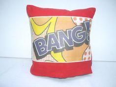 Bang Pop ART Cushion by madeincrawley on Etsy, £12.00