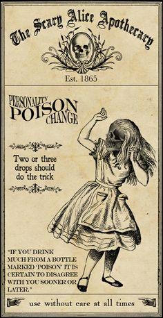 Scary Alice Apothecary - Alice Art Print