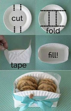 Diy food basket from paper plates
