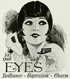 Maybelline for your eyes - brilliance, expression, charm! #vintage #1920s #makeup