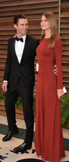 Adam Levine and Behati Prinsloo At the 2014 Vanity Fair Oscars Party