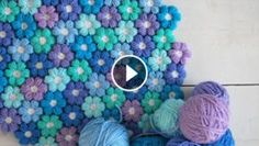 Joined Puff Crochet Flowers Tutorial